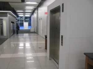 A view of the elevator in its original location.