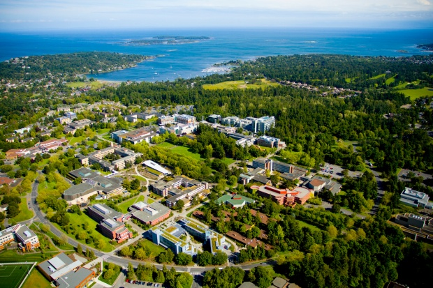 Aerial view of the University of Victoria